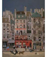 Rare Hand Signed Michel DeLaCroix - Au Bon Bock - Exhibition Art Lithogr... - $799.99
