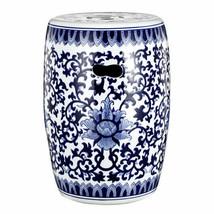 """Blue & White Ceramic Garden Stool 11""""x16"""" - D69818 - $82.16"""