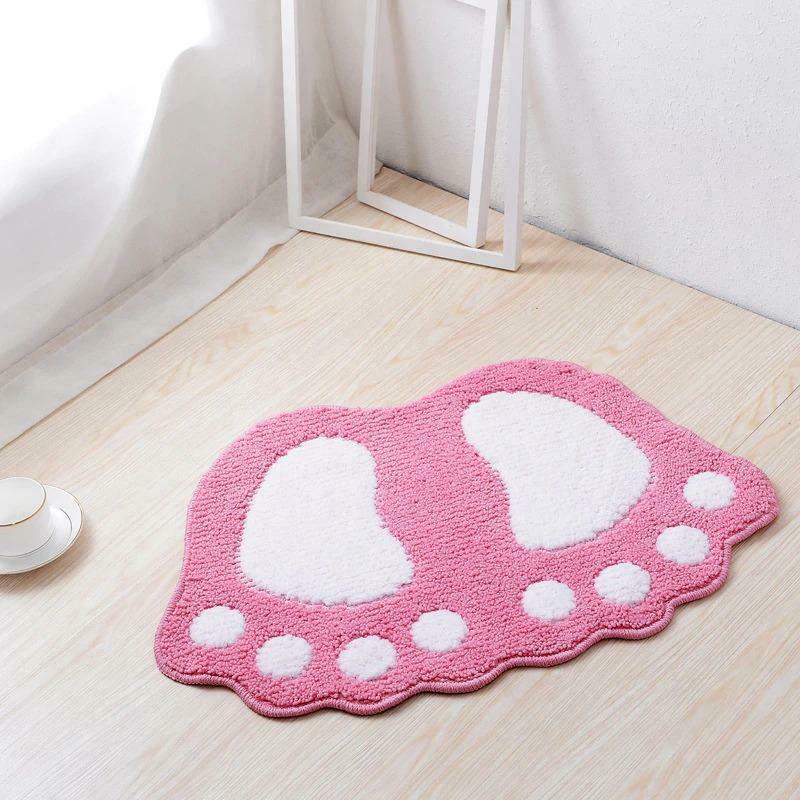 Bath Mats Water Absorption Mini Carpet Foot Print Non Slip Toilet Microfiber Pad image 12