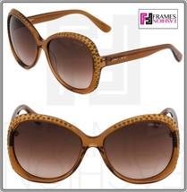 JIMMY CHOO LU Translucent Brown Diamante Crystal Butterfly Sunglasses Lu/S - $264.33