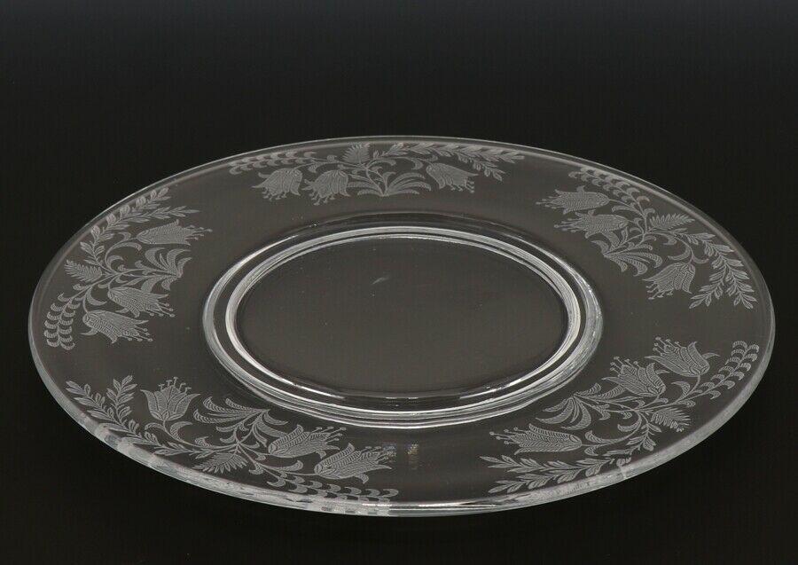 Tiffin Fuchsia Elegant Glass Plate Luncheon Plates a set of 8
