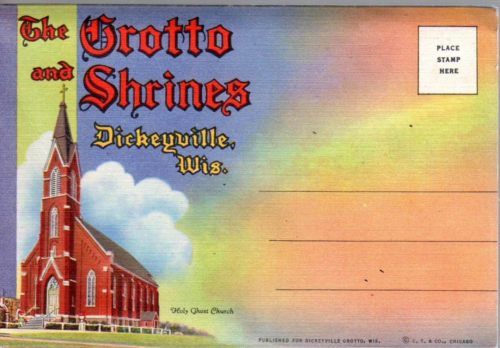 Primary image for The Grotto and Shrines Dickeyville, Wis. Souvenir Fold Out Pictures Postcards