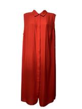 Vince Camuto Women's Sleeveless Collard Tunic Side Slits Fiery Red Blous... - $39.59