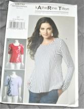 Pattern Vogue Designer Top Katherine Tilton V8710 L-XXL Uncut Factory Folded - $9.79