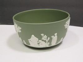 "Wedgwood Jasperware Green Bute Bowl 4.75"" - $29.70"