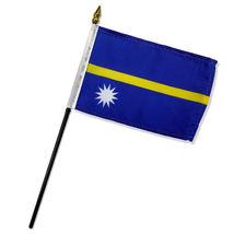 "Wholesale Lot of 6 Nauru 4""x6"" Desk Table Stick Flag - $22.00"