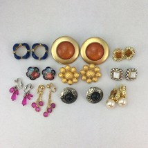 Lot 10 Clip On Earrings Great Variety - $8.00