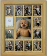 Baby First Year Personalized Frame - Newborn 2.5 x 3.5 Oak  - $64.95