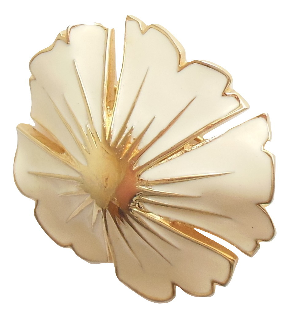 372ce08f827 Img 5418432412 1517000354. Img 5418432412 1517000354. Previous. Vintage  Monet Enamel Flower Brooch Creamy Yellow Beige Gold Tone Ladies Pin