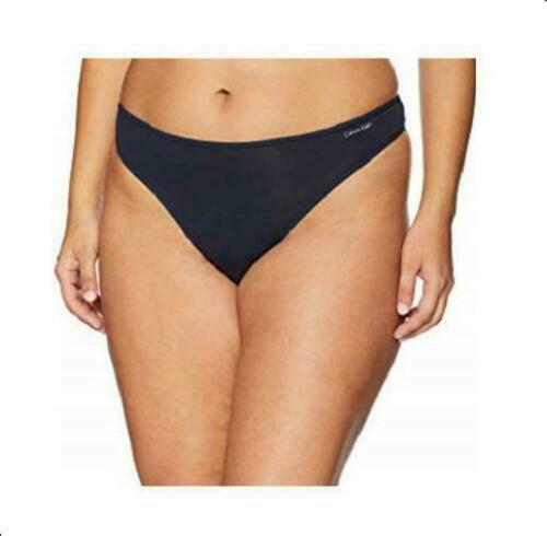 Calvin Klein Women Form Plus Size Thong 2X Shoreline Blue Navy NWT