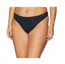 Calvin Klein Women Form Plus Size Thong 2X Shoreline Blue Navy NWT