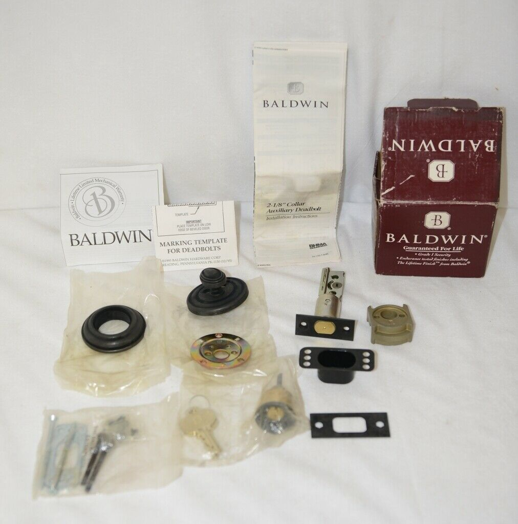 Baldwin 8231102KA4 High Security Deadbolt Traditional Adjustable Backset