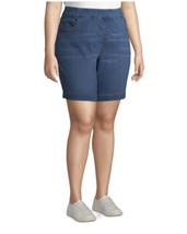 Terra & Sky Women's Plus Pull On Denim Shorts size 5X color Light Blue W... - $20.78