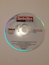 TurboTax Deluxe Federal 2002 for Windows Intuit Disc Only - $7.25