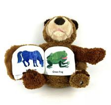 Zoobies Eric Carle Brown Bear Plush Stuffed Animal Cloth Story Book Budd... - $19.79