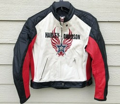 Harley Davidson Women Motorcycle Genuine Leather Jacket - Large - $277.20
