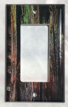 Color Barn Wood Light Switch Outlet Toggle Rocker Wall Cover Plate Home Decor image 2