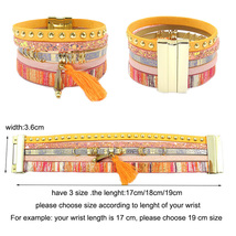 leather bracelet 6 color bracelets summer charm bracelets Bohemian  - $7.24