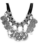 BriLove Women's Cluster Tree Of Life Dragon Pendant Dangle Bib Statement - $26.64