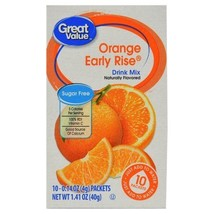 Great Value Sugar Free, Low Calorie Orange Early Rise Drink Mix Pack of ... - $15.03