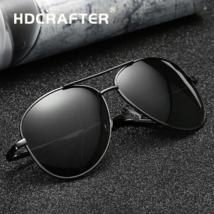 Occhiali da Sole Polarizzati da Uomo Aviator Pilota Vintage Men Sunglasses Black - $26.06