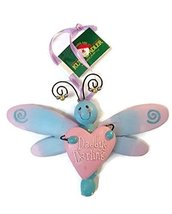Dragonfly with Heart Baby Ornament 5 inches wide (Daddy's Boy) - $15.00