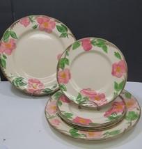 "Franciscan Desert Rose ENGLAND 2 Dinner Plates 11"" & 4 Lunch Salad Plate... - $33.66"