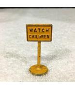 """Vintage Toy  """" Watch Children """" Street Sign 1 1/2"""" Bright Yellow T16 - $12.38"""