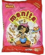 Vero Manita Paletas Strawberry Flavor Mexican Hard Candy LolliPops 40 pcs - $14.95