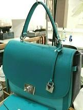 Michael Kors Cassie Top Handle Colorblock Satchel Shoulder Bag Turquoise Multi - $121.42