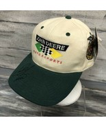 John Deere Motorsports Roush Racing Green Chad Little Vtg Signed Hat Sna... - $13.86