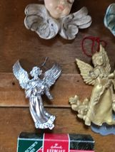 Estate Lot of Hallmark Heavenly Gilt Painted Resin Sparkly Silver Plastic White  image 5