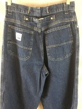RIVETED By LEE Denim Womens Blue Jeans Size 8 Buckle Back High Waist - $24.60