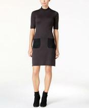 Calvin Klein Faux-Suede-Pocket Sweater Dress SIZE M - $33.66