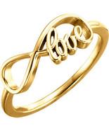 "14K Gold ""Love"" Infinity Inspired Ring - $298.99"