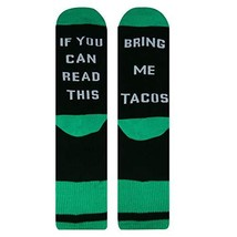 If You Can Read This Novelty Funny Saying Taco Crew Socks, Gag Gift for Men - $9.30