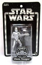 Star Wars 2003 Exclusive Silver Clone Trooper - $16.99