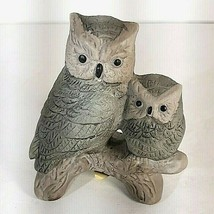 """Vtg Owl Mother and Baby Sculpture Figurine Porcelain 3 1/2"""" Tall Taiwan ... - $12.95"""