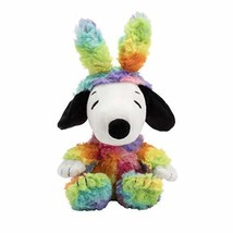 Hallmark Plush Rainbow Easter Snoopy with Bunny Ears in All-Over Colorfu... - $13.20