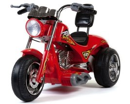 Toy Ride On Red Hawk Motorcycle 12v Battery Powered 3 wheels - $239.00