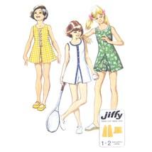 1970s Vintage Simplicity Sewing Pattern 5708 Girls Sleeveless Dress Shor... - $6.95