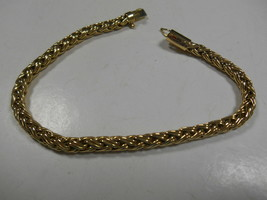 """Rare TIFFANY & Co Gold Russian Braid Bracelet Exc Cond Pouch 7"""" - $1,702.34"""