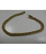 "Rare TIFFANY & Co Gold Russian Braid Bracelet Exc Cond Pouch 7"" - $1,702.34"