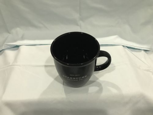 Starbucks 2002 Barista Abbey Black with White Est 1971 Coffee Mug Cup