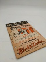 "Black & Decker Vintage Handbook 1942  ""The Portable Electric Drill""   - $6.79"