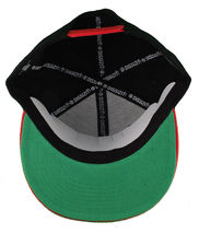 Dissizit! Side Bear Black Red Brim Snapback Cap Hat California Star Flag image 7