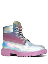 YRU Youth Rise Up STR8UP Hologram Reflective Pink Women's Shoes Sneakers... - $120.00
