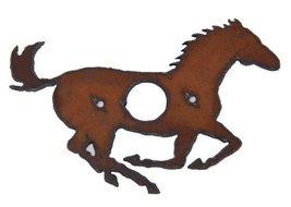 Rustic Metal Running Horse Door Bell Cover - $7.99