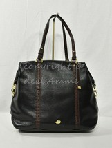 NWT Brahmin Southcoast Delaney Tote/Shoulder Bag in Black Tuscan Coast - $399.00