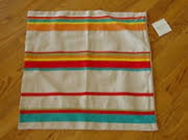 """NWT Set of 2 Pottery Barn """"Engineered Grosgrain Stripe"""" 20""""x20"""" Pillow Covers - $16.78"""